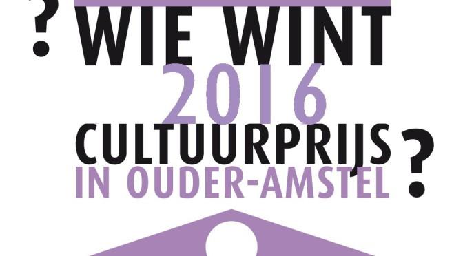 Cultuurprijs  2016  :  wie wint?